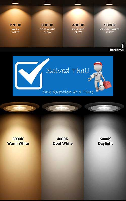 Awesome Light Bulb Color Temperature Comparison Chart