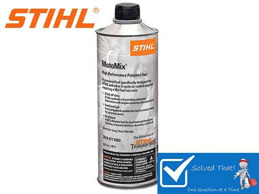 STIHL MOTOMIX PREMIXED FUEL PREVENT A WONT STAY RUNNING WONT START CONDITION IN AN ENGINE