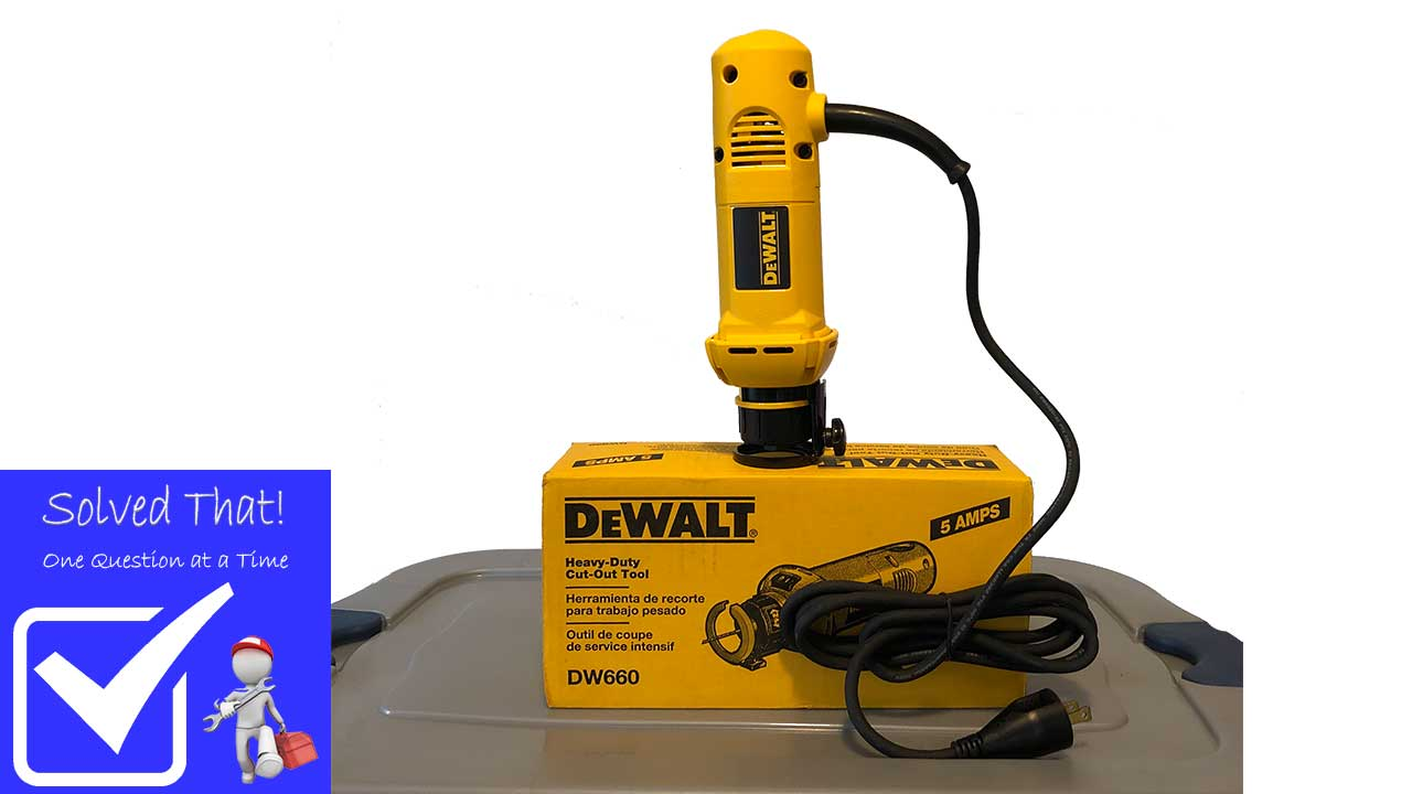 Picture of a DEWALT CUT-OUT TOOL DW660