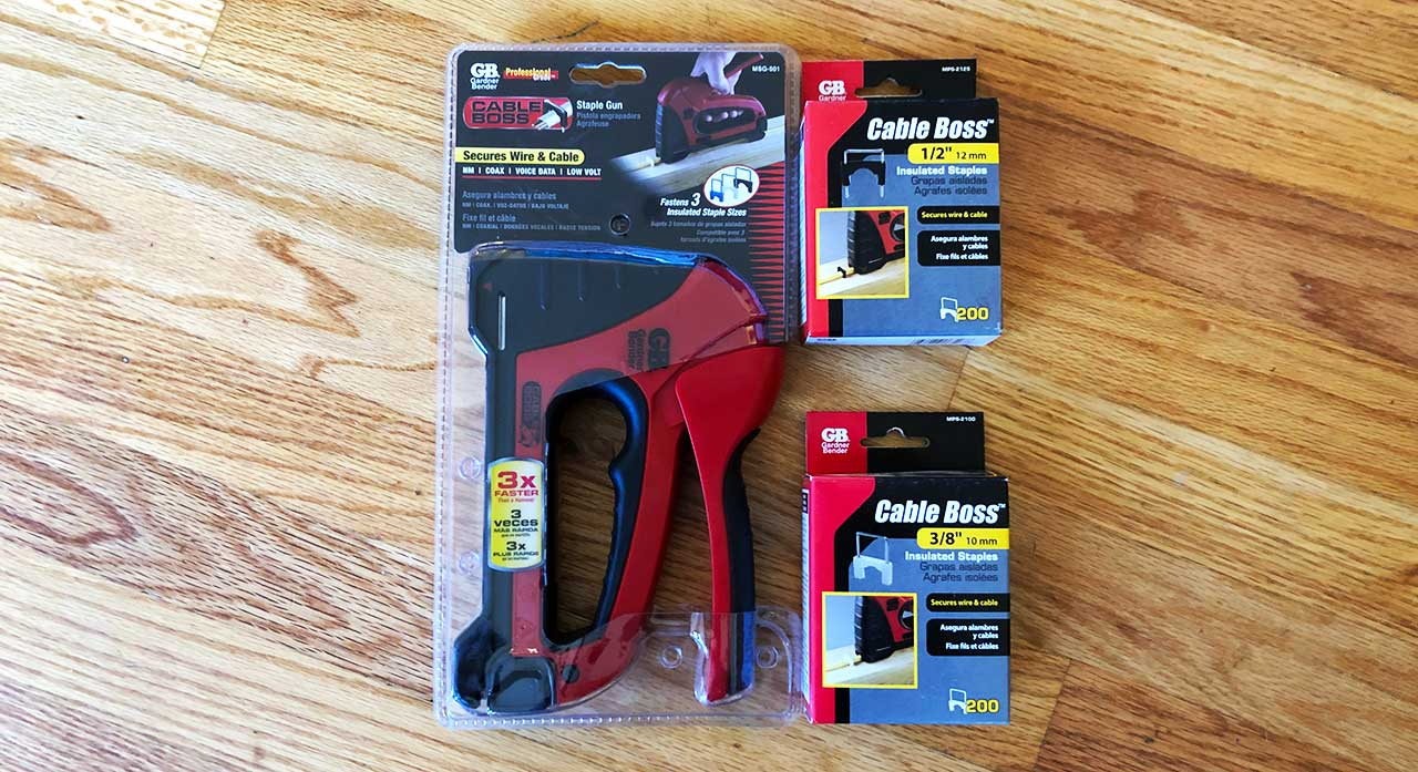 BEST ROMEX STAPLE GUN | GARDNER BENDER CABLE BOSS MSG 501 ... on